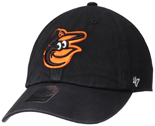 MLB Baltimore Orioles '47 Clean Up Adjustable Hat, Black, One Size