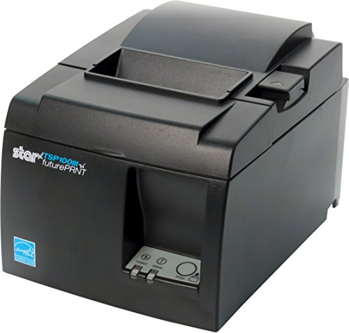 Star Micronics TSP143IIIW Wi-Fi (WLAN) Thermal Receipt Printer with Wireless Access Point, WPS, Cutter, and Internal Power Supply - Gray