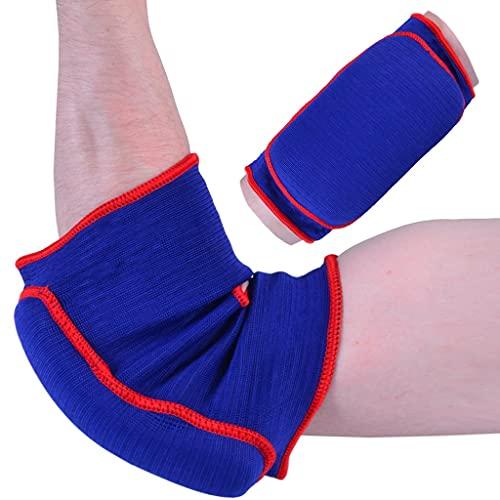 M.A.R International Ltd. Ellenbogenschoner aus elastischem Stoff, für Kampfsport, Karate, Taekwondo, Boxen, Kickboxen, Thaiboxen, Muay Thai, Blau, Größe S/M