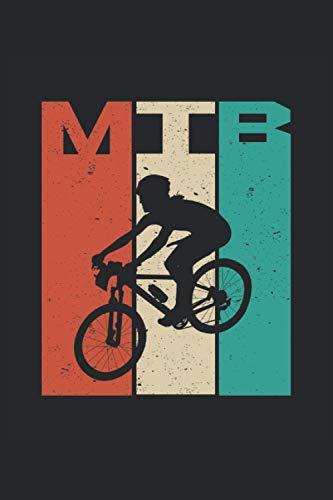 Notebook A5 a righe laterali 120 vintage retrò per mountain bike per ciclisti MTB (6 x 9 pollici): Taccuino come idea regalo per ciclisti e possessori di mountain bike per programmare tour.
