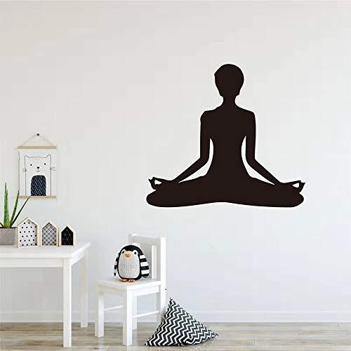 Rhpnyi Decoración de Pared Pegatina decoración para Yoga Girl Gym 57x54cm