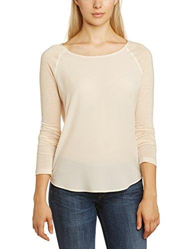 French Connection Damen Polly Plains LS Langarmshirt, Weiß (Cream), 38 (Herstellergröße:Medium)