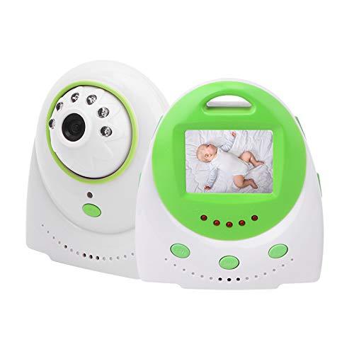 Baby Monitor 2.4 pulgadas LCD Inalámbrico Digital Baby Safety Monitoreo Soporte Sensor de temperatura Voz bidireccional Transmisión de largo alcance con Walkie-talkie infrarrojo 110-240V(EU)