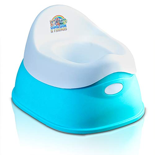 Lama Sam & Friends - vasino per bambini in 2 parti - Vasino da circa 18 mesi a circa 3 anni, funzione antiscivolo (Acqua)