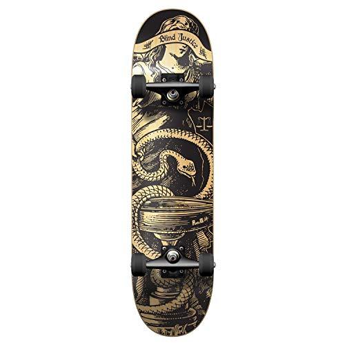 "Yocaher Graphic Complete Skateboard 7.75"" Skateboard - Natural Blind Justice"