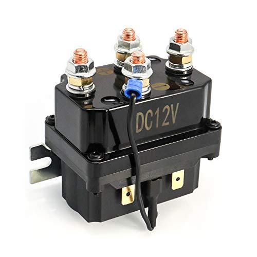 QWORK Relé Solenoide de Cabrestante 12V 250A para cabrestante AUT UTV 3000-5000lbs