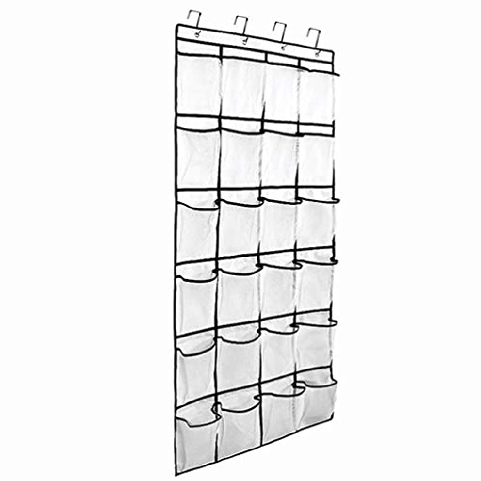 Hanging Shoe Organizer, Large Storage Capacity 24 Grid Multi-Layer 24 Pockets Hanging Bag for Hanging Shoes