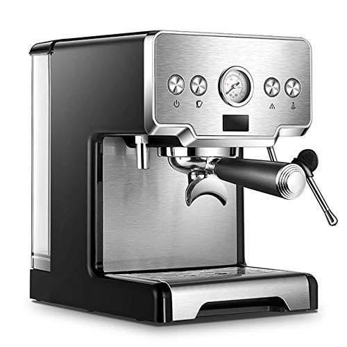 ZLASS Máquina de café expreso, máquina de café expreso de Vapor de 15 Bares, cafetera Profesional con Tanque de Agua extraíble de 1,7 l y manómetro, Capuchino y café con Leche, 1450 W