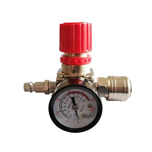 1/4'Regulador de presión neumático del compresor de aire Regulador de presión neumático, válvula de control de presión con conexión de 180 psi 12 bar (válvula de tres vías)