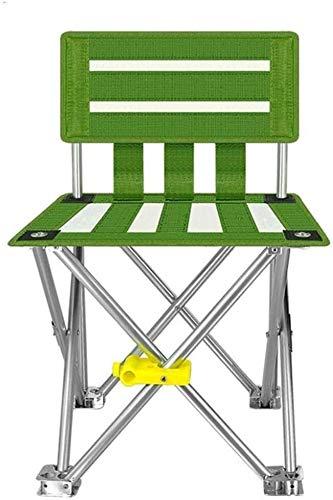 Sillas de camping Taburete plegable for Silla de la pesca, heces Ultraligero multifuncional al aire libre Silla plegable portátil Beach (color: verde 72 * 42 * 40cm), ( Color : Green 58*36*33cm )