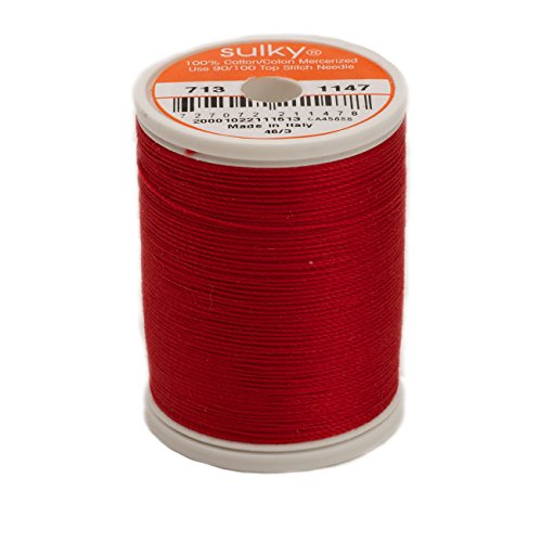 Sulky Cotton Thread 12 wt 330 yd Christmas Red