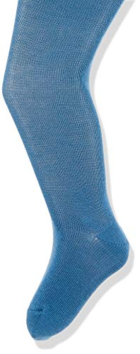 FALKE Unisex Baby Matt Deluxe 30 DEN W TI Strumpfhose, Blickdicht, blau (Denim 6062), 74-80