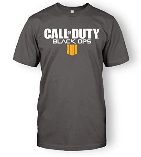 Limit Break Clothing Call of Duty Black Ops 4 Logo Top Tee (Small, Charcoal Grey)
