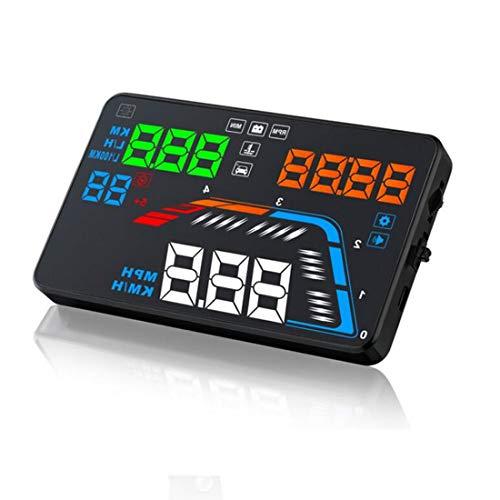 Vigorflyrun pièces Ltd 14 cm Q700 OBDII Port Head Up Display de Voiture Profondeur données Diagnostic DIGITA Compteur de Vitesse Pare-Brise Vidéoprojecteur Plus de Vitesse d'alarme de Tension