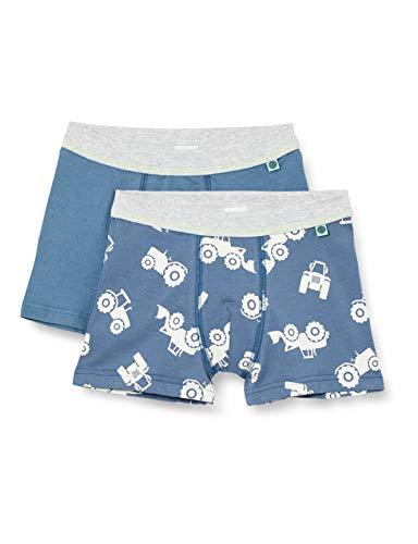 Sanetta Jungen Shorts im Doppelpack blau Boxershorts, Bering sea, 104