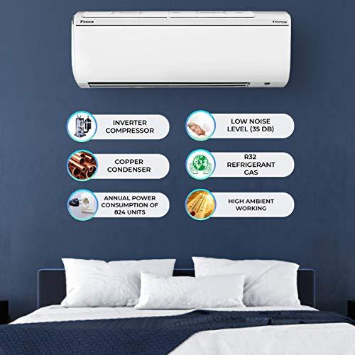 Daikin 1.5 Ton 5 Star Inverter Split AC (Copper, Anti Microbial Filter, 2018 Model, FTKG50TV, White)