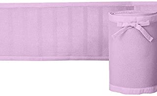 Rajlinen Crib Liner - Light Weight - Honeycomb Technology!! No Chance of Suffocation and it Keeps Your Baby Limbs in The Crib(Standard/Regular Crib Size) (Pink and Cotton Trim)