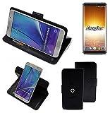 K-S-Trade® Case Schutz Hülle Für Energizer P600S Handyhülle Flipcase Smartphone Cover Handy Schutz Tasche Bookstyle Walletcase Schwarz (1x)
