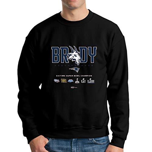 to-M B-Rady Get All The Championship Trophies Mens Crew Neck Hoodie Sweatshirt Hip Hop Black