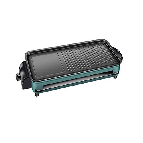NYFG Sin Humo Retirable Barbacoa eléctrica Verde Aleación de Aluminio Plancha de...