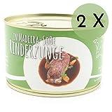 2 X Konserve Diem Rinderzunge Madeira-Sauce Dose- Rinderzunge in Rotweinsoße - Belgische Spezialität - 240g Fleischeinwage - lange haltbar (19,88€ / Kg)