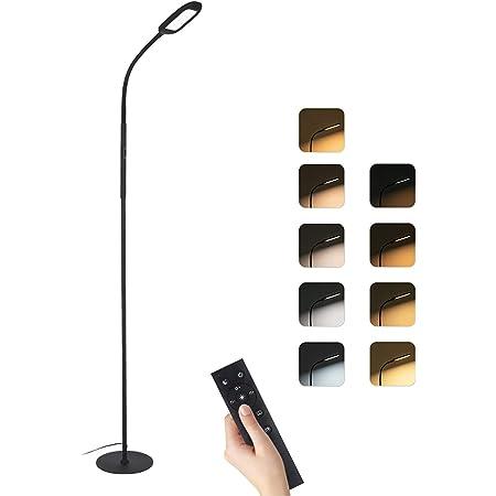 Lampadaire sur Pied Salon, 126 LED lampe de lecture, 4 modes de couleur, 5 modes scène, Cou 360 ° Flexible, Infinite Dimmable, Télécommande & Touch Control, Détachable pour chambre salon