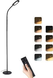 Lampadaire sur Pied Salon, 126 LED lampe de lecture, 4 modes de couleur, 5 modes scène, Cou 360 ° Flexible, Infinite Dimma...