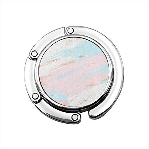 Nette Faltbare Geldbörse Kleiderbügel Haken für Tisch, rosa Muster abstrakte Pastellfarbe...