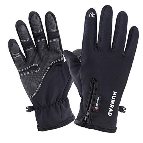 JN Waterproof Cycling Gloves Full Finger Touch Screen Cold-Proof Ski Gloves Men Women Winter Skiing Snowboard Fluff Warm Gloves