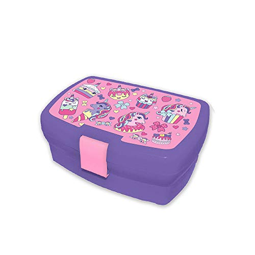 Desconocido Kids Sandwichera de Colección Cupcake Fiambreras bento-Porta Alimentos Artículos para el hogar Unisex Adulto, Multicolor (Multicolor), única