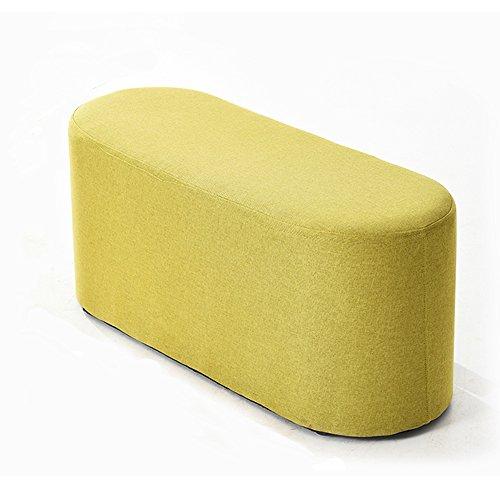 LJHA Tabouret pliable Repose-pieds simple créatif / tabouret de sofa de chaise longue / tabouret de salon de bande / tabouret de queue de lit de chambre à coucher / changement tabouret de chaussures (4 couleurs facultatives) chaise patchwork ( Couleur : D , taille : 80cm )