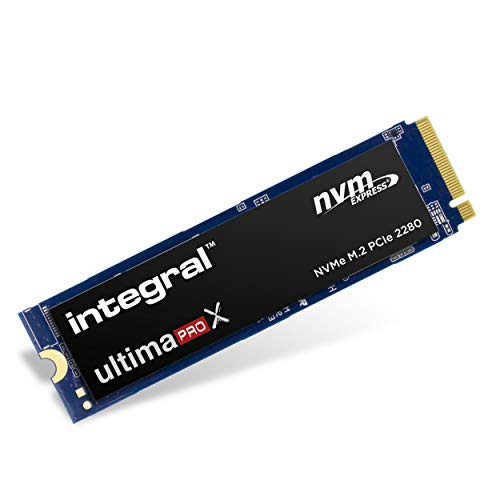 Integral Ultima Pro X 1TB NVMe M.2 SSD interno, fino a 3400MB/s in lettura 3000MB/s in scrittura, per giochi e grafica/editing video
