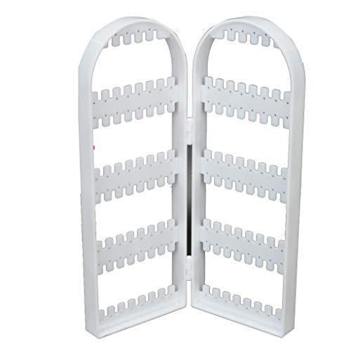 Mengonee 2/4 Puertas Mostrar Pendiente de la joyería de plástico Transparente Estante...