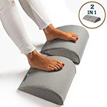 Foot Rest Cushion Under Desk,for Home & Office Use,Large Size 2 Units in 1,High Density Durable Foam footrest,Perfect Ergonomic Design,Great Feet Support,Help to Relief Back and Knee Pain, by ComZone