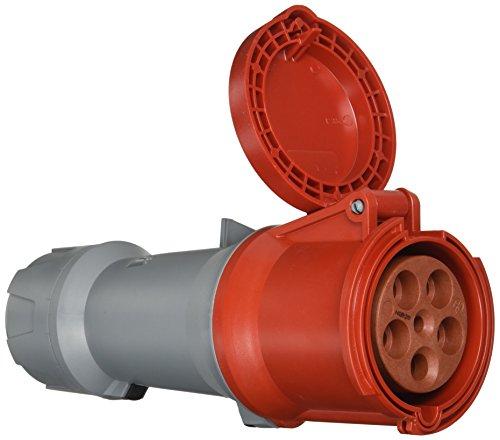 Mennekes 3285 verlengkabel (koppeling) Power Top Plus, CEE-stopcontacten, 400 V, 50-60 Hz, 63 A, 5-polig, IP 44 graden bescherming, rood