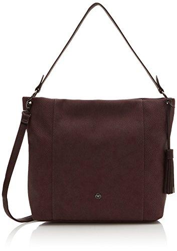 TOM TAILOR Umhängetasche Damen Lara, Violett (Berry), 12x30x38 cm, Damen Handtasche