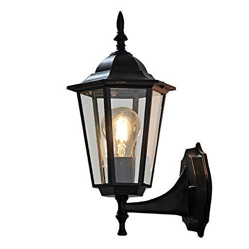 DC Wesley Estilo europeo villas al aire libre impermeable lámpara de pared al aire libre lámpara de pared creativo retro hotel balcón jardín lámpara pasillo luz pequeño hexágono 17 * 20 * 37 cm