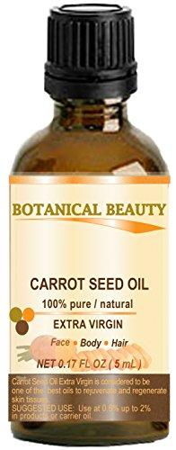 Aceite De Semillas Zanahoria 100% Puro/ Natural /Extra Virgin / Sin refinar / Prensado En Frío/ Sin diluir Aceite base Aceite. 0.17 Fl oz 5 ml. Piel, Cuerpo Y Cuidado De Cabello. Por Botánico Belleza