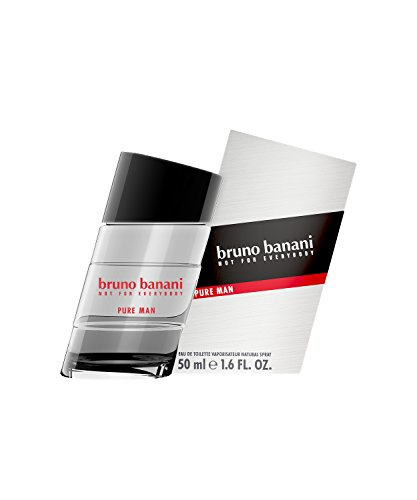 bruno banani Pure Man – Eau de Toilette Natural Spray – Holzig-blumiges Herren Parfüm – 1er Pack (1 x 50ml)