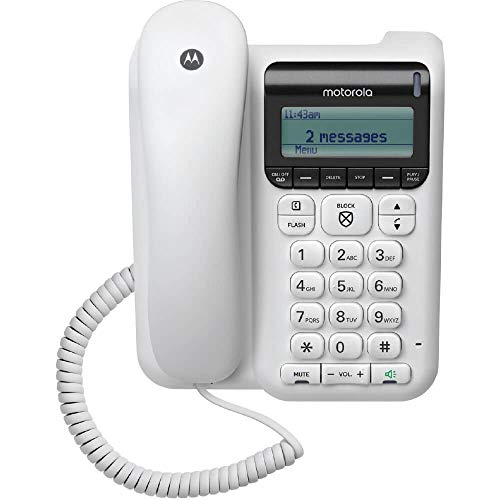 Motorola CT610 Corded Telephone - Answering Machine & Call Blocking
