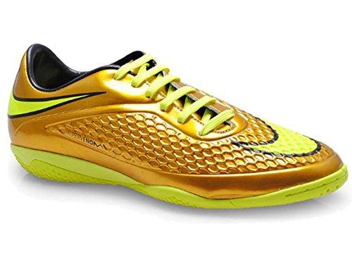 Nike Hypervenom Phelon Prem IC - Zapatillas de fútbol para Hombre, Amarillo (Mtlc Gold Coin/Tour Yellow/Lucky Green/Black), 44 EU