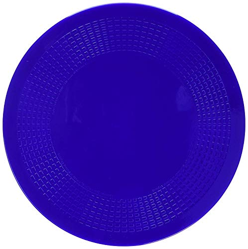 Dycem Non Slip Round Pad 14 cm, Blue, Precut Adhering Pad, Grip Assistance, Non-Toxic, Prevents Objects From Sliding or Rolling, Ideal for Cups, Plates, & Eating Utensils