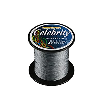 ANGRYFISH 4X 500M/547Y 15LB-80LB Super Strong Braided Fishing Line String-Abrasion Resistant Superline Zero Stretch Small Diameter by YILE