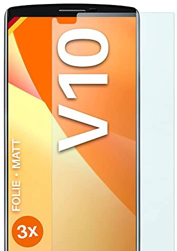moex Protector de pantalla mate compatible con LG V10 – Protector de pantalla antirreflectante, protector de pantalla mate – 3 unidades
