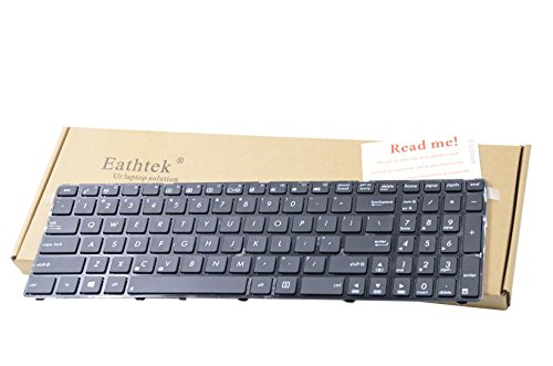 Eathtek Replacement Keyboard with Frame for Asus X54 X54C X54L X54XI X54XB X54H X54HY Series Black US Layout (Two Kinds of Keyboard for X54, Check Cable Position Before Purchasing)