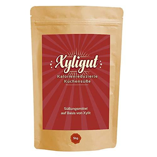 Xyligut Premium Xylit 5kg aus nachhaltigem Anbau in Finnland   Xylitol 4,5kg + 500g   Kalorienreduzierter Zuckerersatz aus Birkenzucker