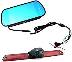 KNRAGHO Compatible with Brake Light Backup Camera B E N Z Sprinter/V W Crafter Vans LED Light Parking (with Monitor)