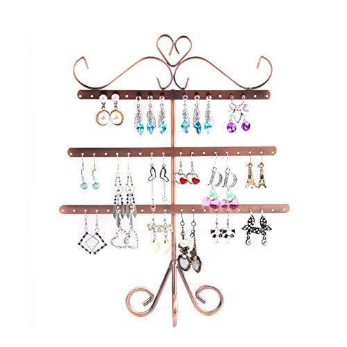 Estante para pendientes de espina de pescado de tres capas, perchero para orejas, estante para almacenamiento de joyas, almacenamiento de joyas para el hogar, 2 juegos