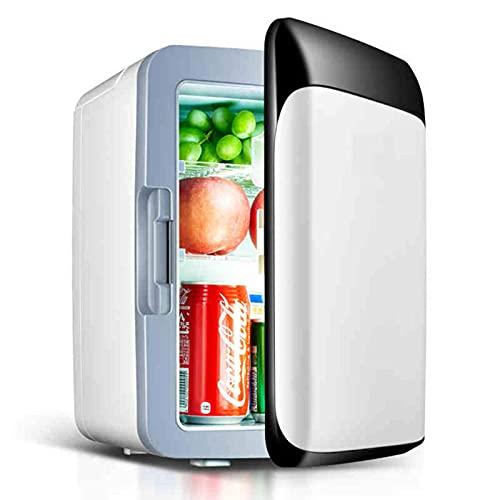 JLKDF Nevera de Coche 10L Mini Nevera Nevera de Bebidas Retro Pequeña para Bebidas Minibar silencioso Nevera de Camping 12V/220V con función de refrigeración y calefacción