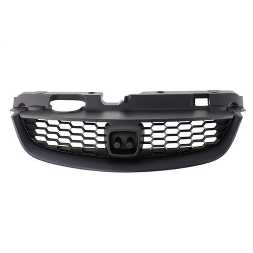 CarPartsDepot, 2D Front Black Plastic Grill w/Lower Grille Molding Assembly, 400-20847 HO1200165 71121S5PA02?